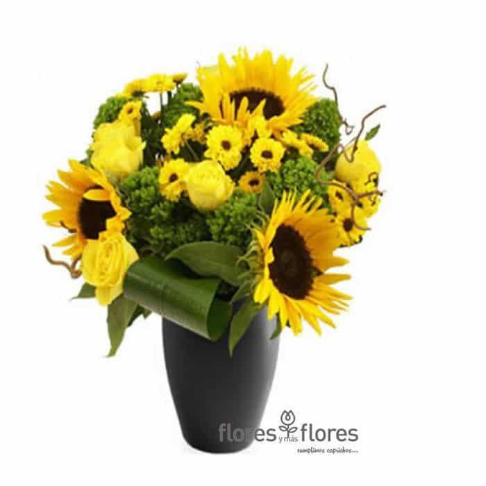 Arreglos florales con girasoles